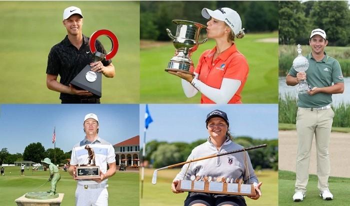 golf Úc vô địch ghi cột mốc mới khi ghi nhận năm golfer cùng ẵm cúp trong một tuần, ở cả hệ thống giải nghiệp dư trình độ cao