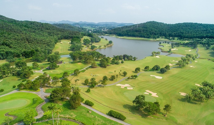 sân golf  Chí Linh Star Golf nhìn từ trên cao