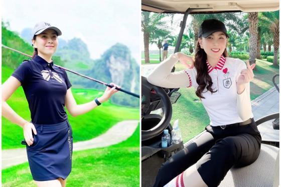 MC Mai Ngọc mê golf có tiếng, nhìn bản đồ check-in toàn những sân golf đỉnh mà choáng