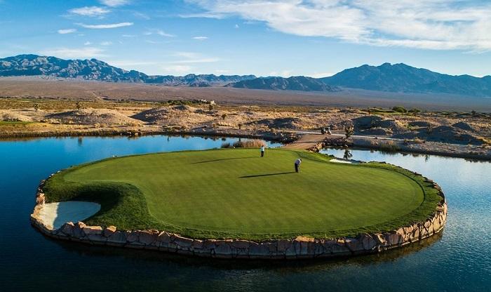 Paiute Golf Resort sân Wolf hố 15