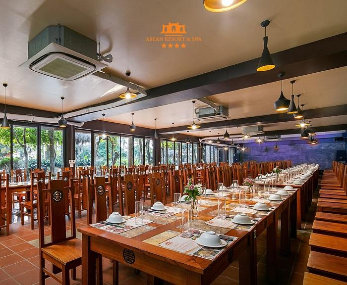 nhà hàng tại Sân golf Asean Resort Thạch Thất Hà Nội