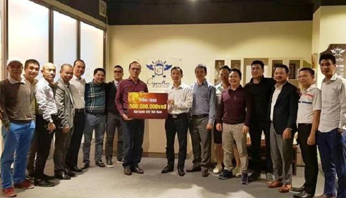câu lạc bộ golf Ciputra Hà Nội Trao tặng 500 triệu đồng cho đội tuyển U23 Việt Nam
