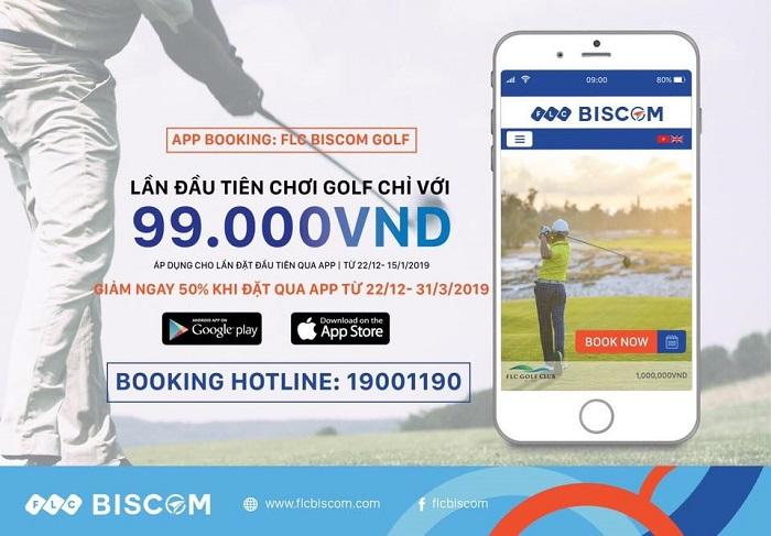 Ứng dụng đặt sân golf  FLC Biscom