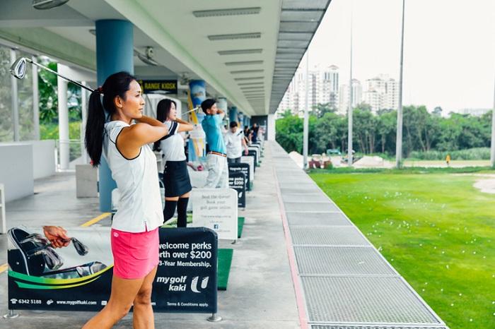 Sân tập golf chuyên nghiệp  Marina Bay Golf Course Singapore
